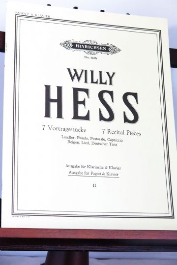 Hess W - 7 Recital Pieces for Bassoon & Piano Vol 2 Nos 5 - 7